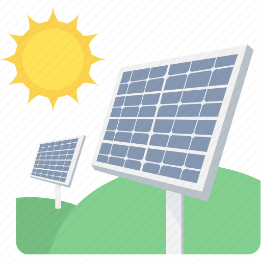 eco, energy, panel, solar, sun icon
