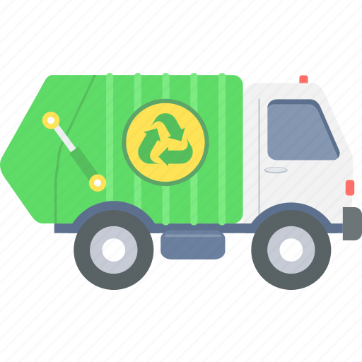 clean, environment, managment, recycle, trash, van, waste icon