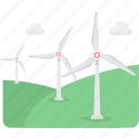 ecology, energy, generator, turbine, wind, windmill icon