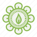 ecology, ecosystem, environment, environmentalism, gear, leaf, save icon