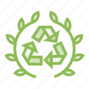ecology, ecosystem, environment, environmentalism, recycle, reduce, reuse icon