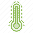 ecology, ecosystem, environment, environmentalism, thermometer icon