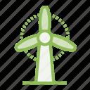 ecology, ecosystem, environment, environmentalism, generator, windmill icon