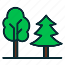 ecology, forest, green, nature, tree icon