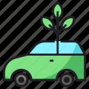 car, plant, transport icon