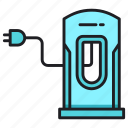 car charge, energy, power, station icon