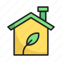 eco, ecology, environment, home, house, leaf, nature icon
