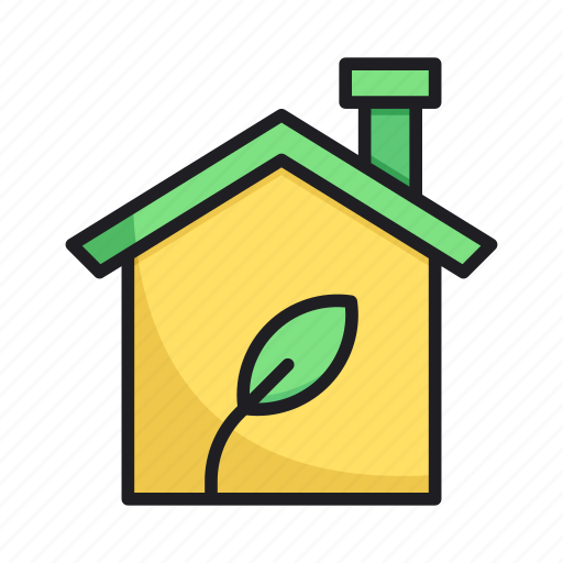 home, leaf, nature icon