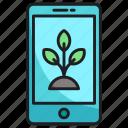 nature, plant, smartphone icon