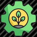 leaf, nature, setting icon