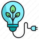 bulb, nature, plug icon