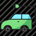 car, electric, plug, transport
