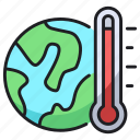 global, thermometer, warming, world