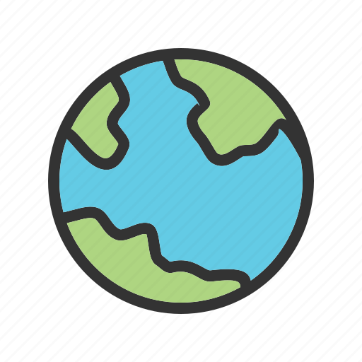 earth, globe, map, ocean, planet, sphere, world icon