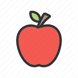 apple, fresh, green, nature, organic, red, tree icon