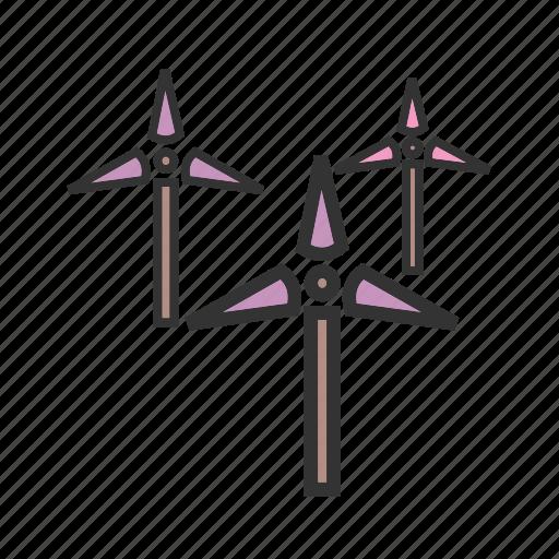 Farm, mill, power, turbine, wind, windfarm, windmill icon - Download on Iconfinder