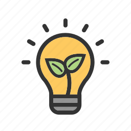 bulb, eco, electricity, energy, green, preserve icon