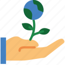 ecology, enviorment, flower, give, nature icon