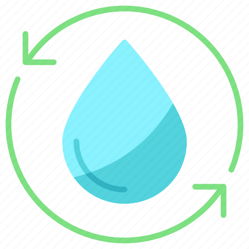 recycle, save, water icon