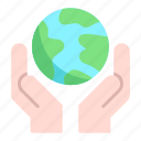 hand, save, world icon
