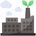 building, factory, nature icon