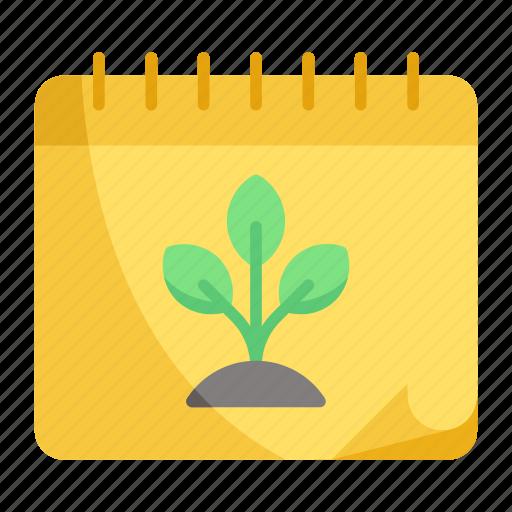 calendar, nature, schedule icon
