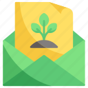 ecology, email, nature icon