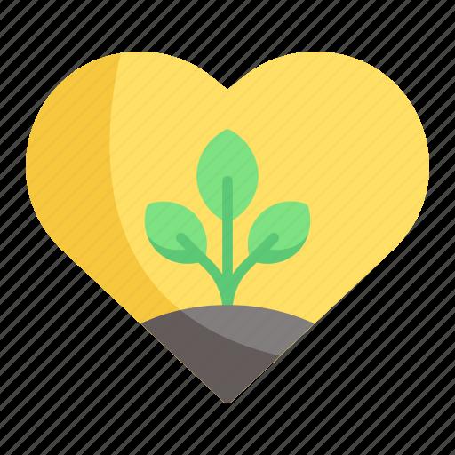 heart, love, nature icon
