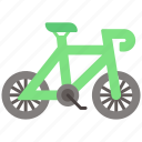 bicycle, bike, ecology icon
