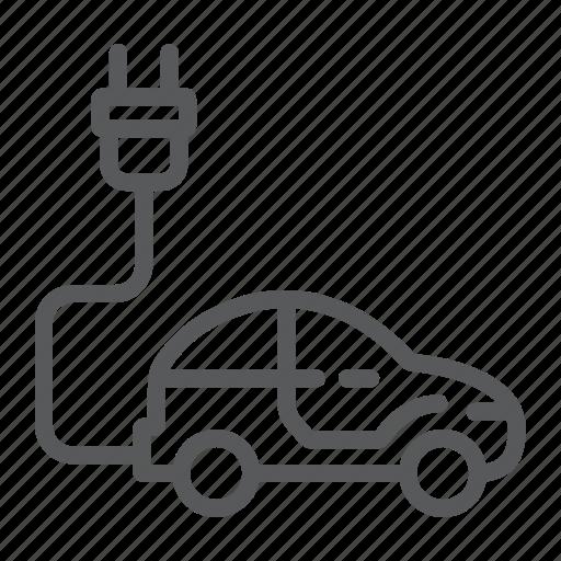 car, eco, electric, plug, sustainable, transport, vehicle icon