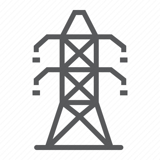 electric, electricity, energy, power, pylon, tower, voltage icon