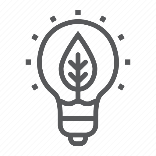 eco, energy, green, innovation, lamp, nature, power icon