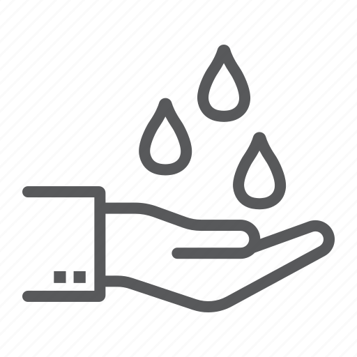 care, drop, ecology, hand, purfied, save, water icon