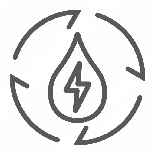 ecology, energy, environment, recycling, thunder, water icon