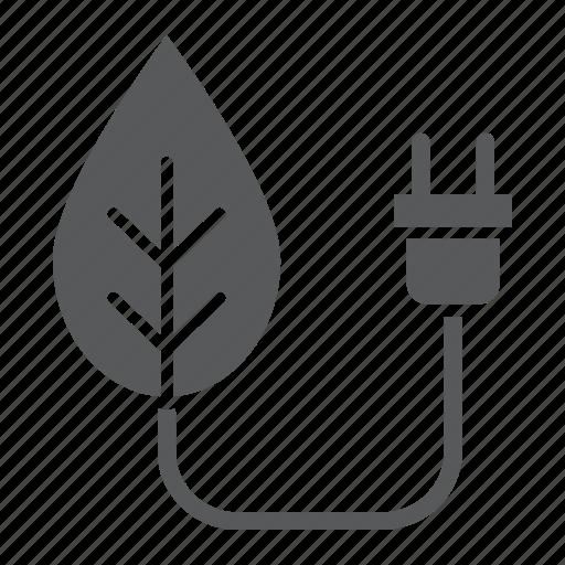 bio, eco, ecology, energy, leaf, plug, power icon