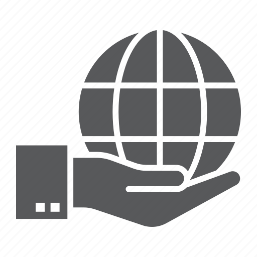 earth, ecology, globe, hand, holding, planet, save icon