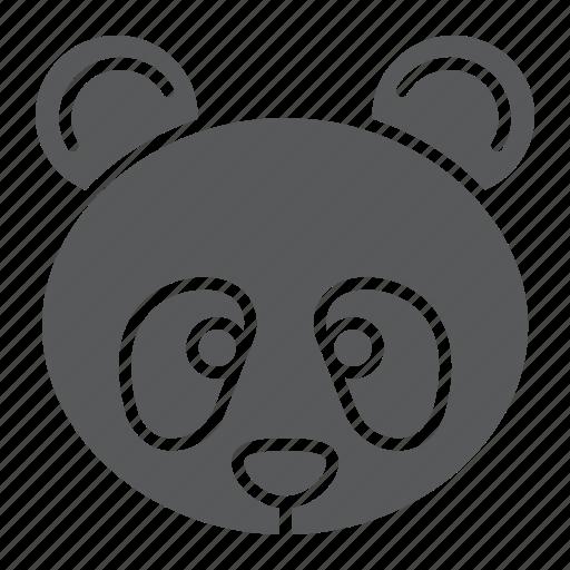 animal, bear, face, fauna, nature, panda, zoo icon