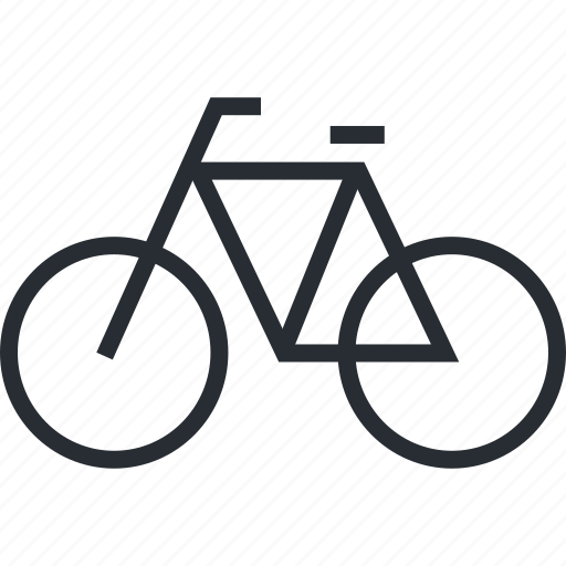 bicycle, green, line, recreation, sustainable, thin, transport icon