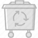 bin, ecology, enviorment, nature, recycling icon