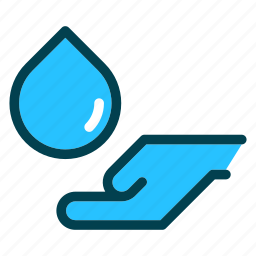 eco, environment, hand, nature, water icon