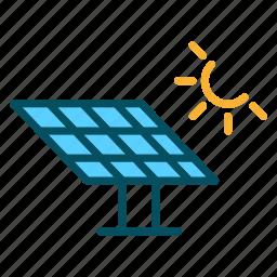eco, ecology, environment, power, solar icon