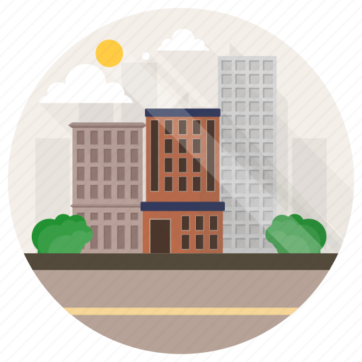 apartment blocks, apartment buildings, homes, houses, residential buildings icon