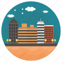 city skylines, high buildings, modern buildings, skylines, tall buildings icon