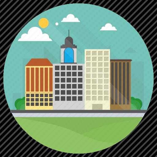 City building, downtown, modern building, skyscraper, urban ...