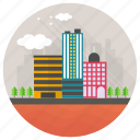 city, city buildings, cityscape, downtown, modern buildings icon