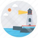 beacon, lighthouse, lighthouse landscape, lighthouse scenery, seascape icon