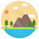 hill station, landscape, nature, nature landscape, scenery icon