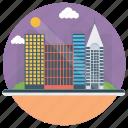 building landscape, city landscape, cityscape, garden architecture, landscape architecture icon