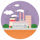 eco factory, factory, industry, manufacturing plant, mill icon