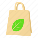 bag, cartoon, eco, eco package, gift, organic, paper icon